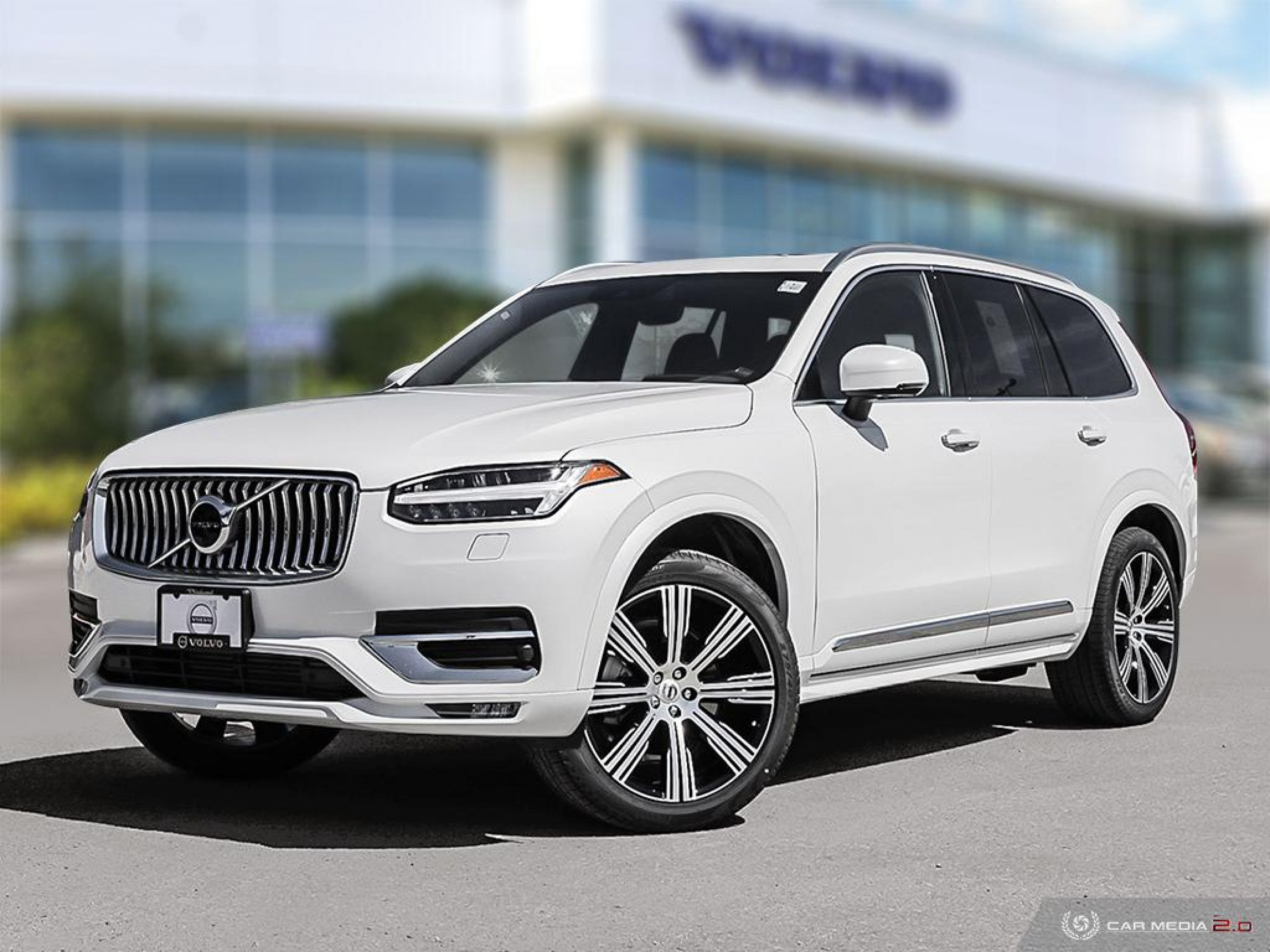 New 2020 Volvo XC90 Inscription Crystal White Metallic